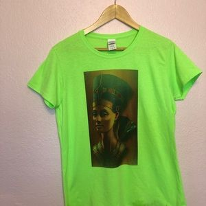 Egyptian Cleopatra Graphic Tee Women's LARGE